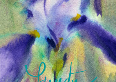 Iris in Cobalt Violet