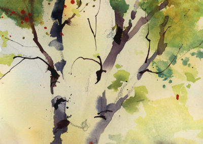 Image of Watercolor titled Spring Green